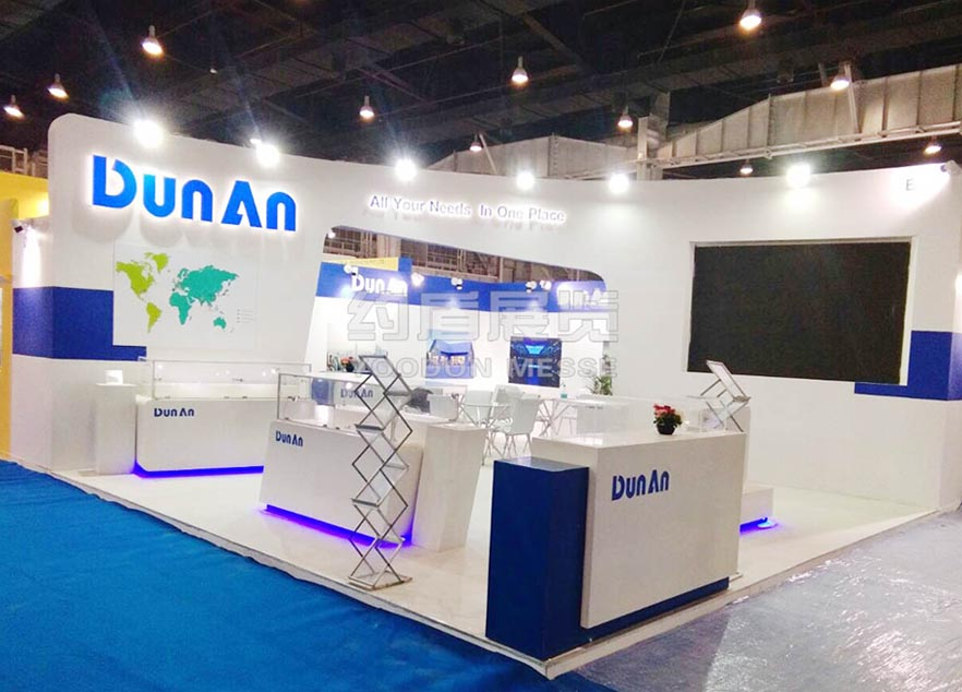 CREXPO booth design and stand builder for Dunan